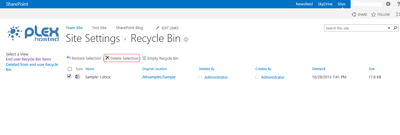 windows sharepoint services now provides recycle bin option for document retrieval How to recover permanently deleted word documents now, click on to the scan option how about damage or corrupted words document after restored from recycle.