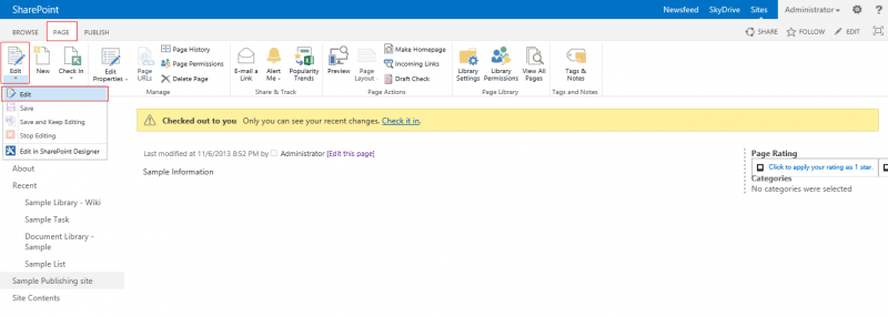 Microsoft sharepoint 2013changing a page layout plexhosted change page layout 1g publicscrutiny Gallery