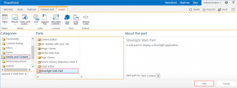 Microsoft SharePoint 2013:Show PowerPivot report in the Web Part