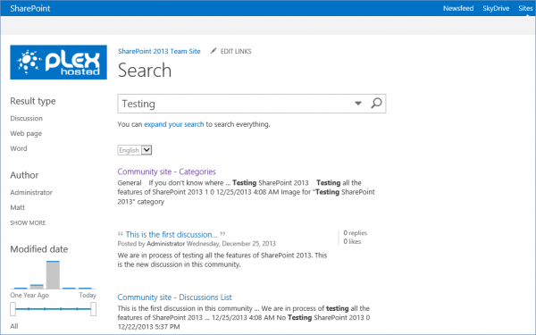 knowledge base template sharepoint 2013 - microsoft sharepoint 2013 search your site plexhosted