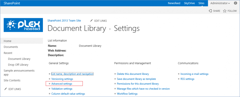 Library Advanced Settings 6