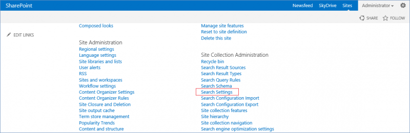 Microsoft SharePoint 2013:Search behavior configuration - PlexHosted
