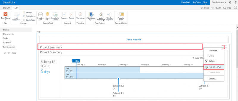 how to change a web part page layout sharepoint